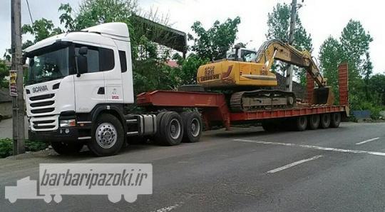 شرکت حمل و نقل ماشین آلات به شهرستان